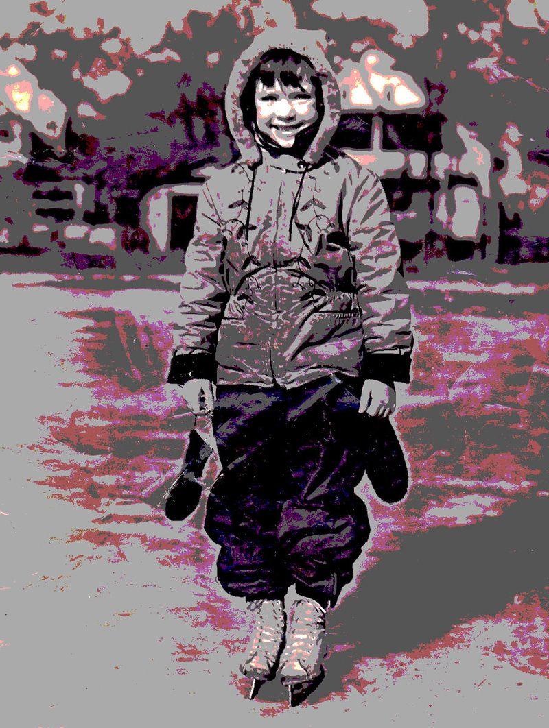 SHARON LEE WHEELER JENSEN 1948 1949 LUNT AVE PARK SOLARIZED                      K